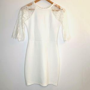 Haoduoyi white mini lace dress party sexy